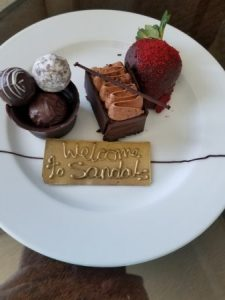 Desserts at Sandals